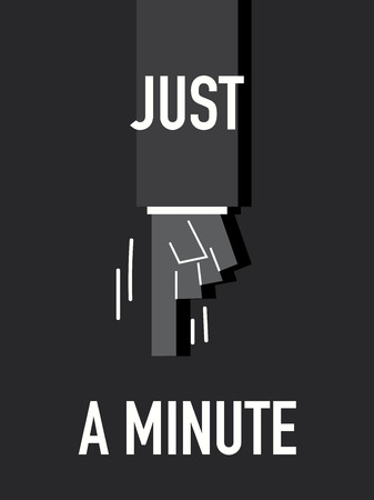 minute: Words JUST A MINUTE Illustration