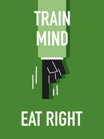 eat right: Words TRAIN MIND EAT RIGHT