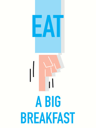 strong message: Words EAT A BIG BREAKFAST