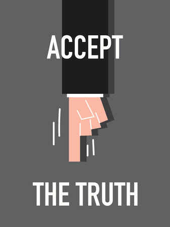 accept: Words ACCEPT THE TRUTH