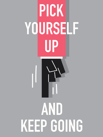 Word PICK YOURSELF UP