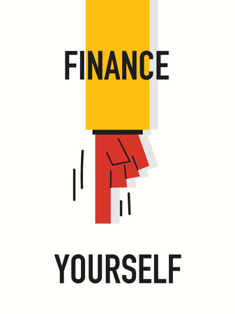 yourself: Words FINANCE YOURSELF Illustration