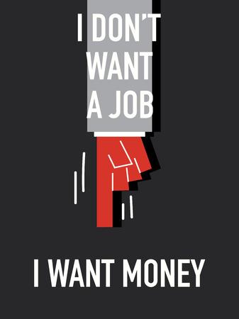 want: Words I WANT MONEY Illustration