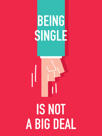 big deal: Words BEING SINGLE IS NOT A BIG DEAL Illustration