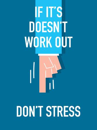 do not: Words Do NOT STRESS