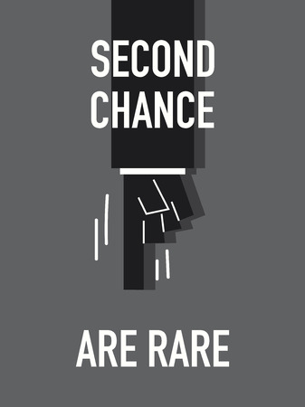 second: Words SECOND CHANCE ARE RARE