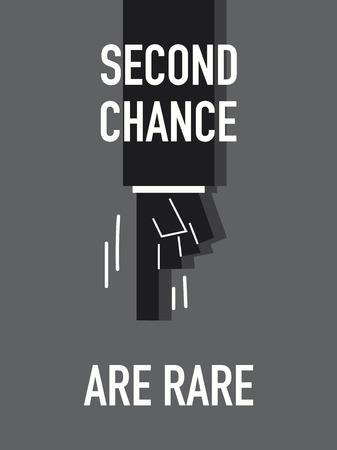 rare: Words SECOND CHANCE ARE RARE