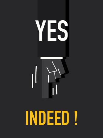 indeed: Words YES INDEED