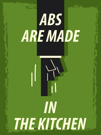 abs: Words ABS ARE MADE IN THE KITHCEN