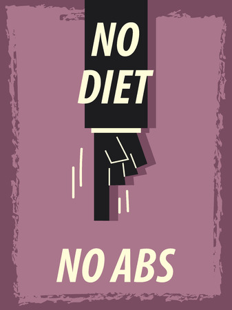 abs: Word NO DIET NO ABS