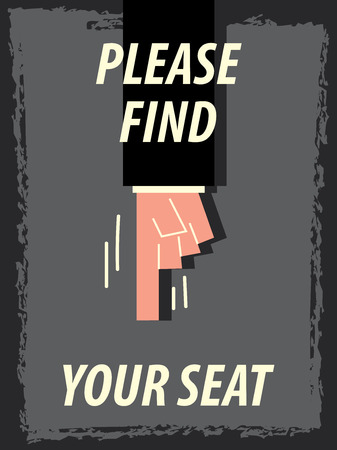 train table: Words PLEASE FIND YOUR SEAT