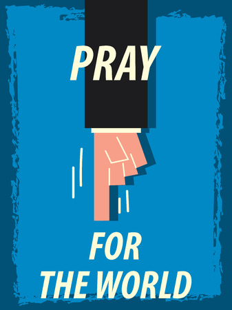 pray for: Words PRAY FOR THE WORLD