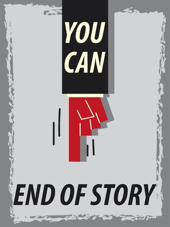 tu puedes: Palabras PUEDES Fin de la historia Vectores