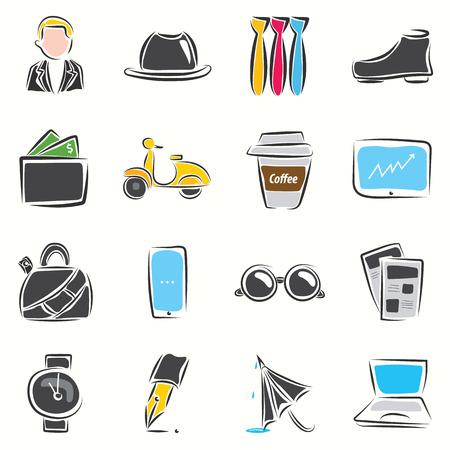 life style: Business man style de vie Illustration