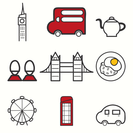 british army: London icons set Illustration