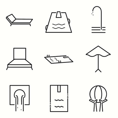 no diving sign: Pool icons set Illustration