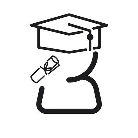 graduation ceremony: Graduation ceremony icon Illustration