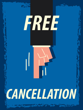 cancellation: Words FREE CANCELLATION