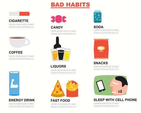 bad habits: Bad Habits infographics