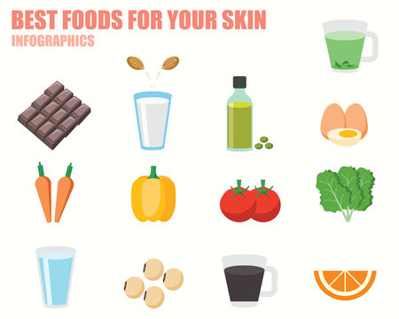 chocolate egg: Foods For Your Skin