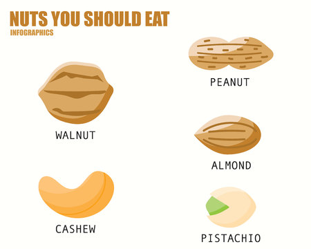 should: NUTS YOU SHOULD EAT infographics