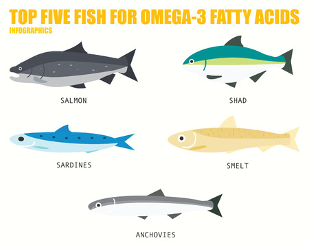 TOP FIVE FISH FOR OMEGA 3 FATTY ACIDS