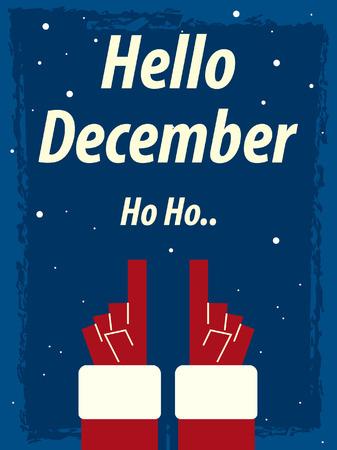 diciembre: Hola diciembre