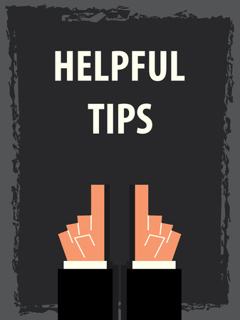 HELPFUL TIPS typography poster