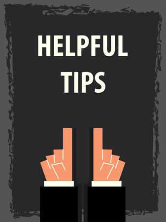 helpful: HELPFUL TIPS typography poster