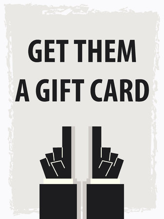 GET THEM A GIFT CARD typography poster 向量圖像