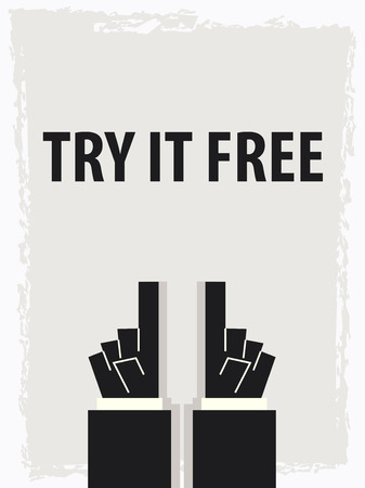 try: TRY IT FREE typography poster Illustration
