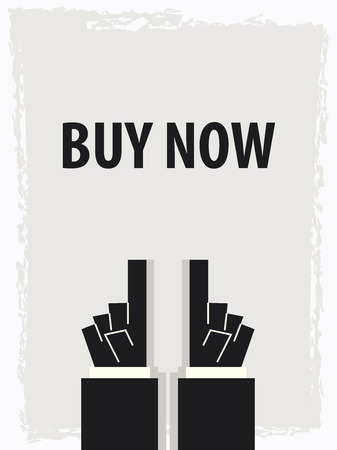 BUY NOW typography poster