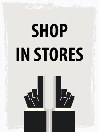 SHOP IN STORES typography poster