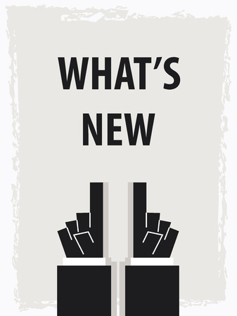 WHATS NEW typography poster