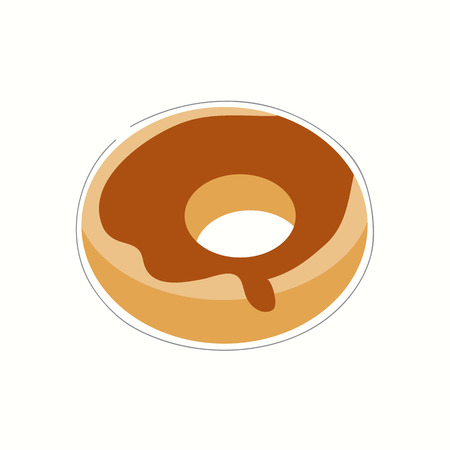 cream filled: Doughnut vector illustration Illustration