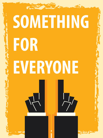 SOMETHING FOR SOMEONE typography poster