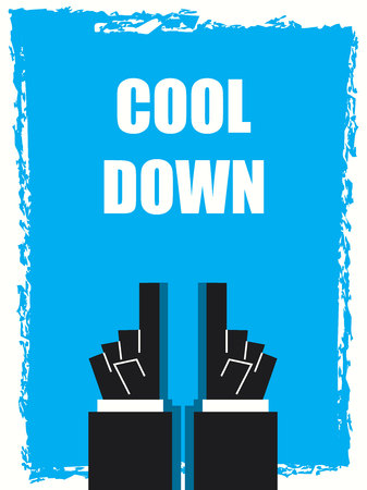 cool down: COOL DOWN typography poster