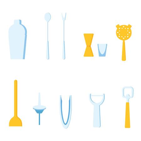 cocktail strainer: Bar Tools vector illustration