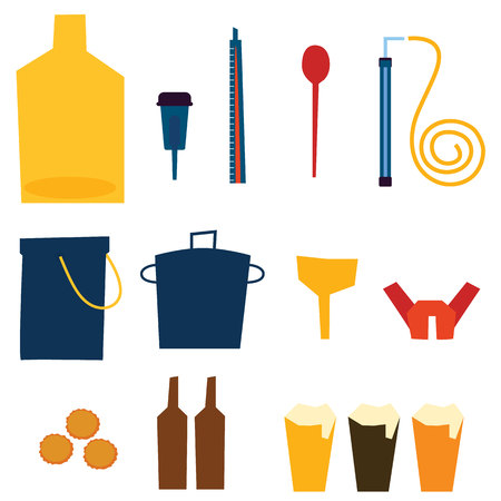 siphon: Home Brew Supplies vector illustration