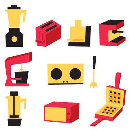 electrics: Electrics Kitchen vector illustration