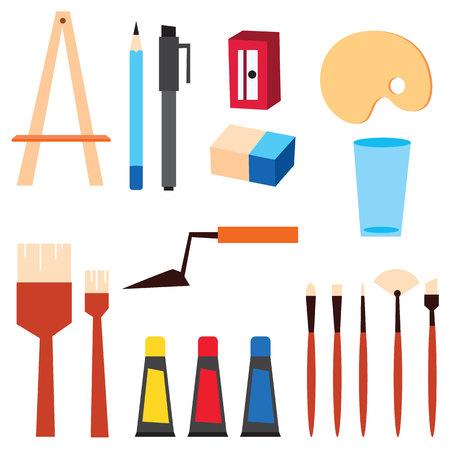 art supplies: Art supplies vector illustration