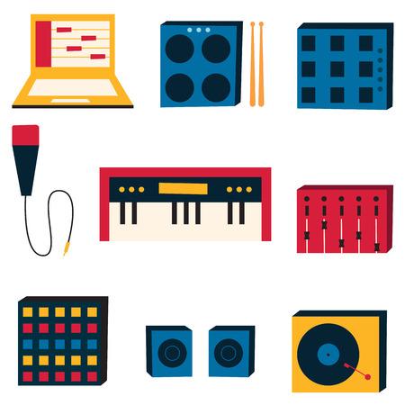 electronica musica: ilustraci�n vectorial de la m�sica electr�nica