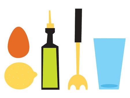 mayonesa: ilustración vectorial mayonesa Vectores