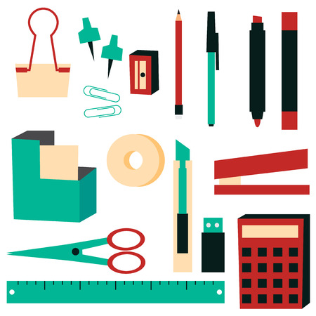 office supplies: Office Supplies vector illustration