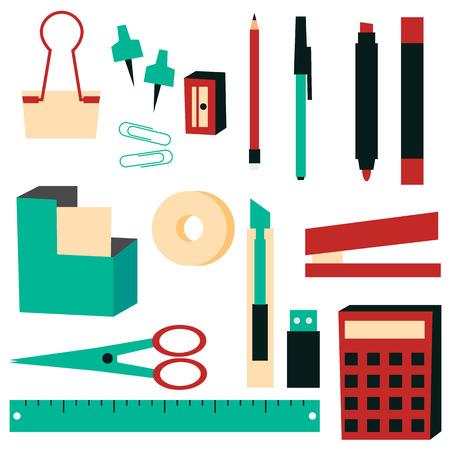 Office Supplies vector illustration