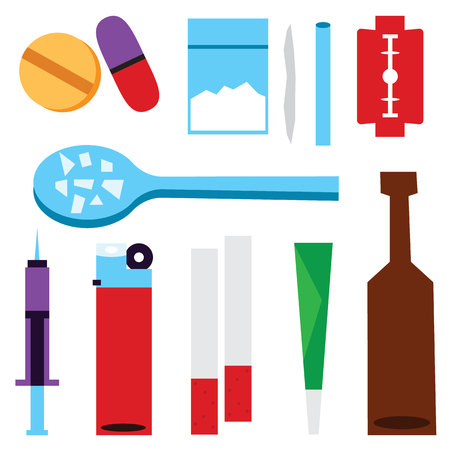 illegal: illegal drugs vector illustration