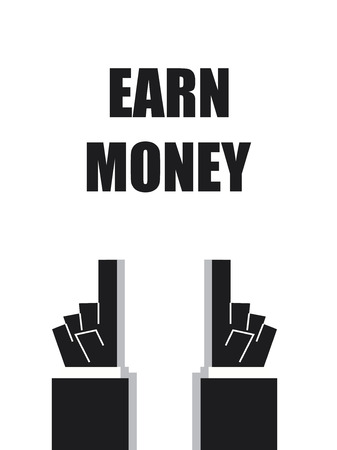 earn money: EARN MONEY typography