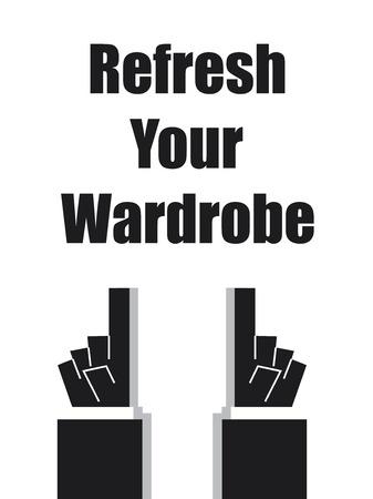 boudoir: REFRESH YOUR WARDROBE typography Illustration