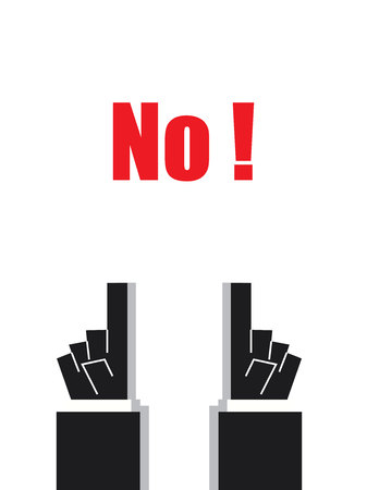 acknowledge: NO typography signs and symbols Illustration