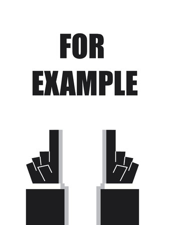 FOR EXAMPLE typography signs and symbols Illustration